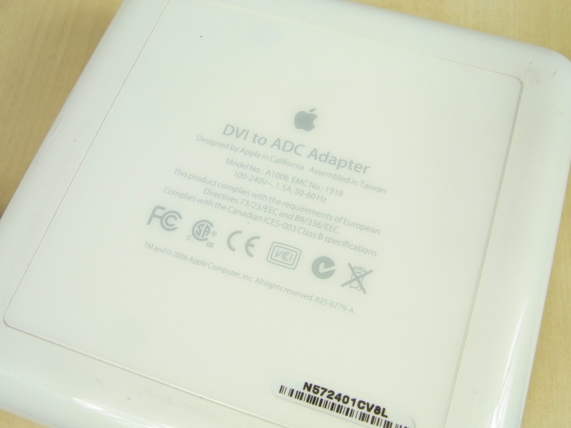 Apple DVI to ADC Adapter M8661J/B